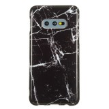 TPU Protective Case For Galaxy S10e (Black Marble)