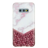 TPU Protective Case For Galaxy S10e (Rose Flash Marble)