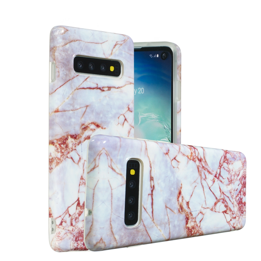 TPU Protective Case For Galaxy S10 (Gravel)