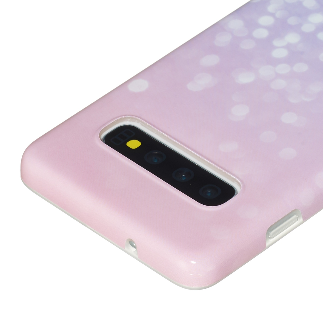 TPU Protective Case For Galaxy S10 (Bright Pink)