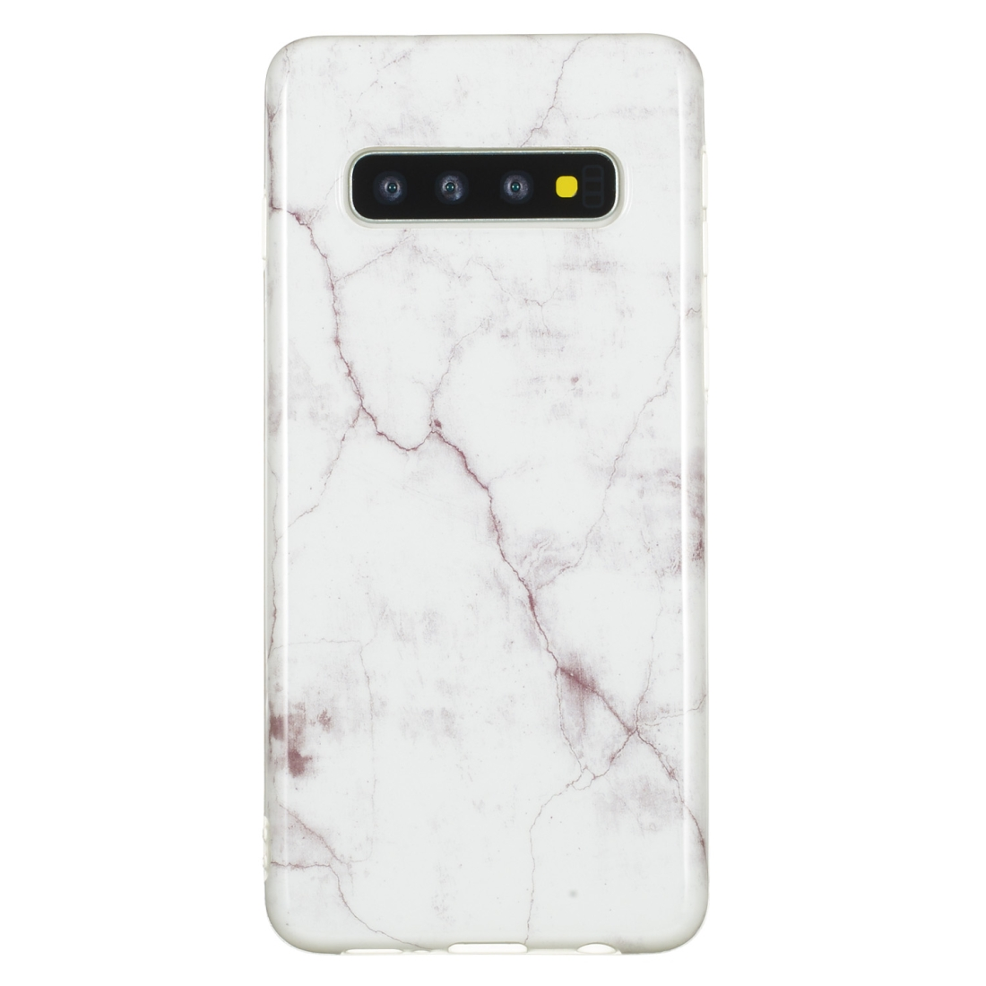 TPU Protective Case For Galaxy S10 (White Marble)