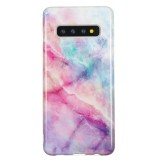TPU Protective Case For Galaxy S10 (Pink Green Marble)