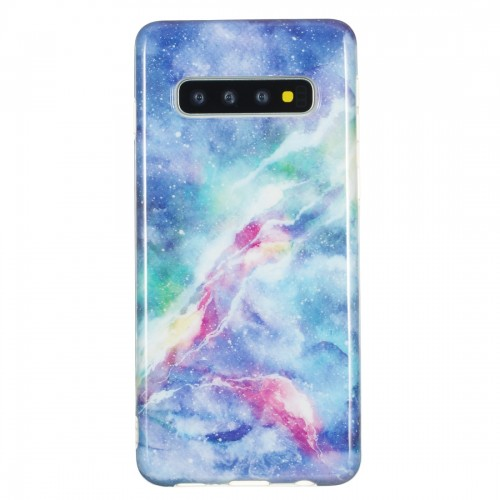 TPU Protective Case For Galaxy S10 Plus (Blue Star)