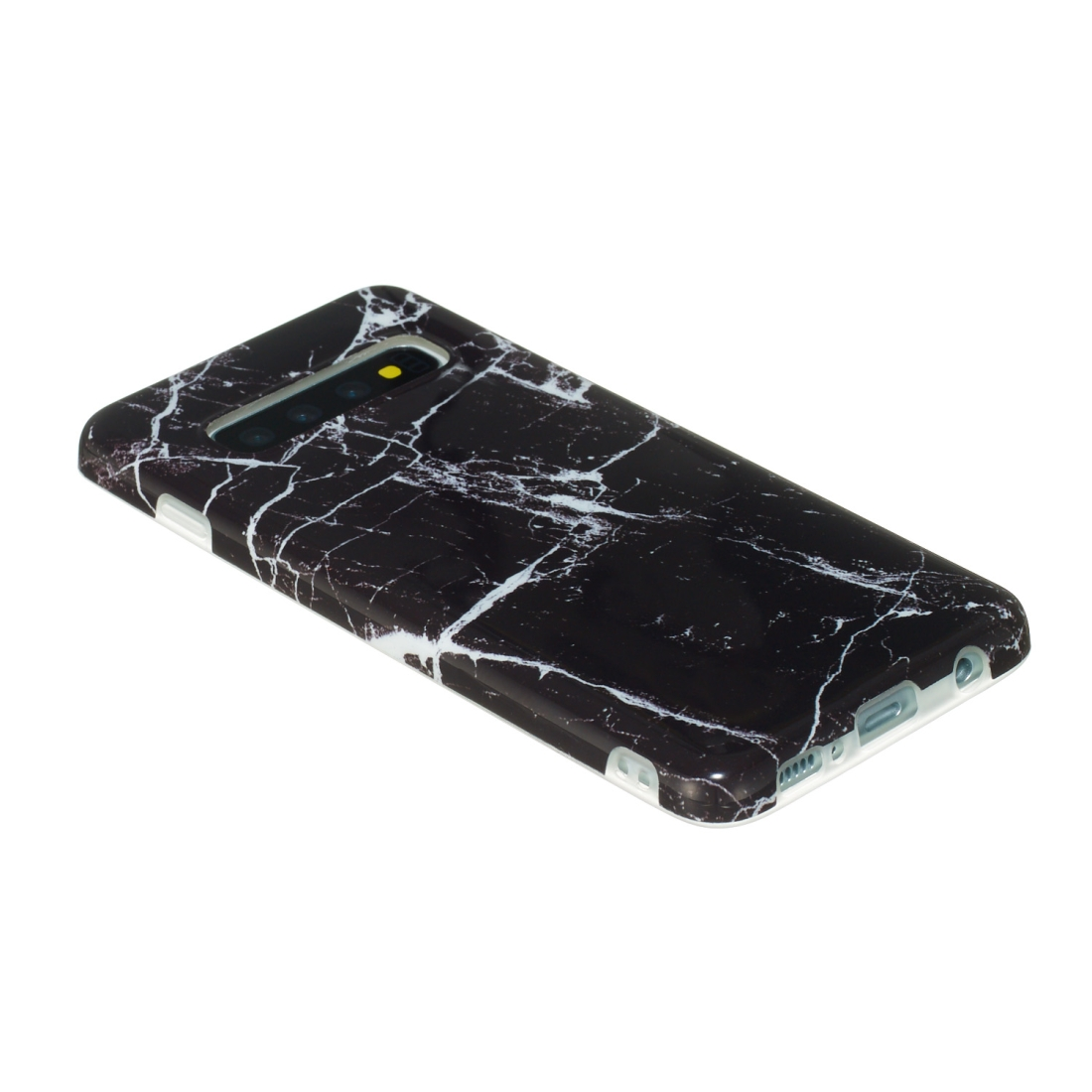 TPU Protective Case For Galaxy S10 Plus (Black Marble)