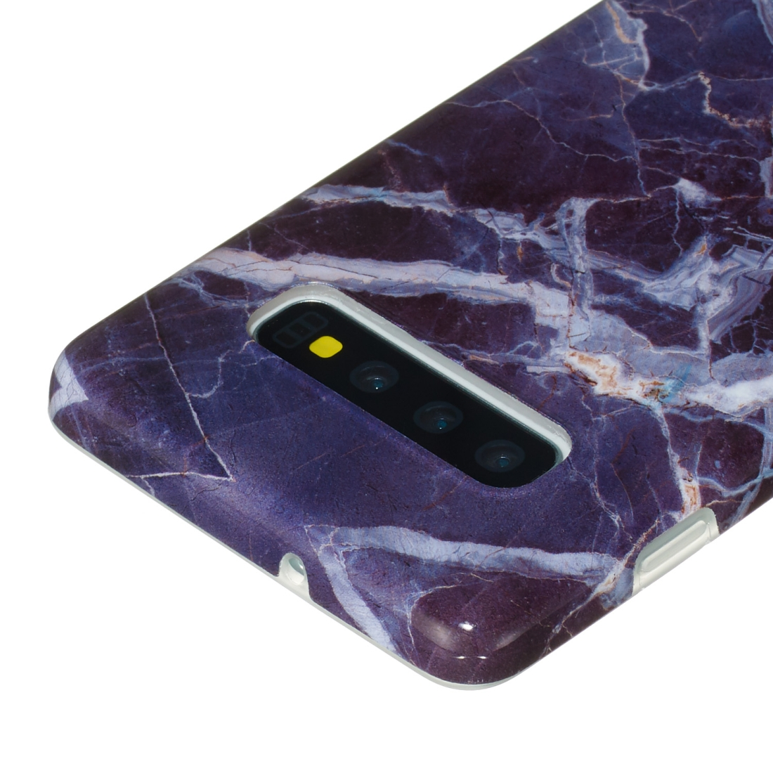 TPU Protective Case For Galaxy S10 Plus (Gray Marble)