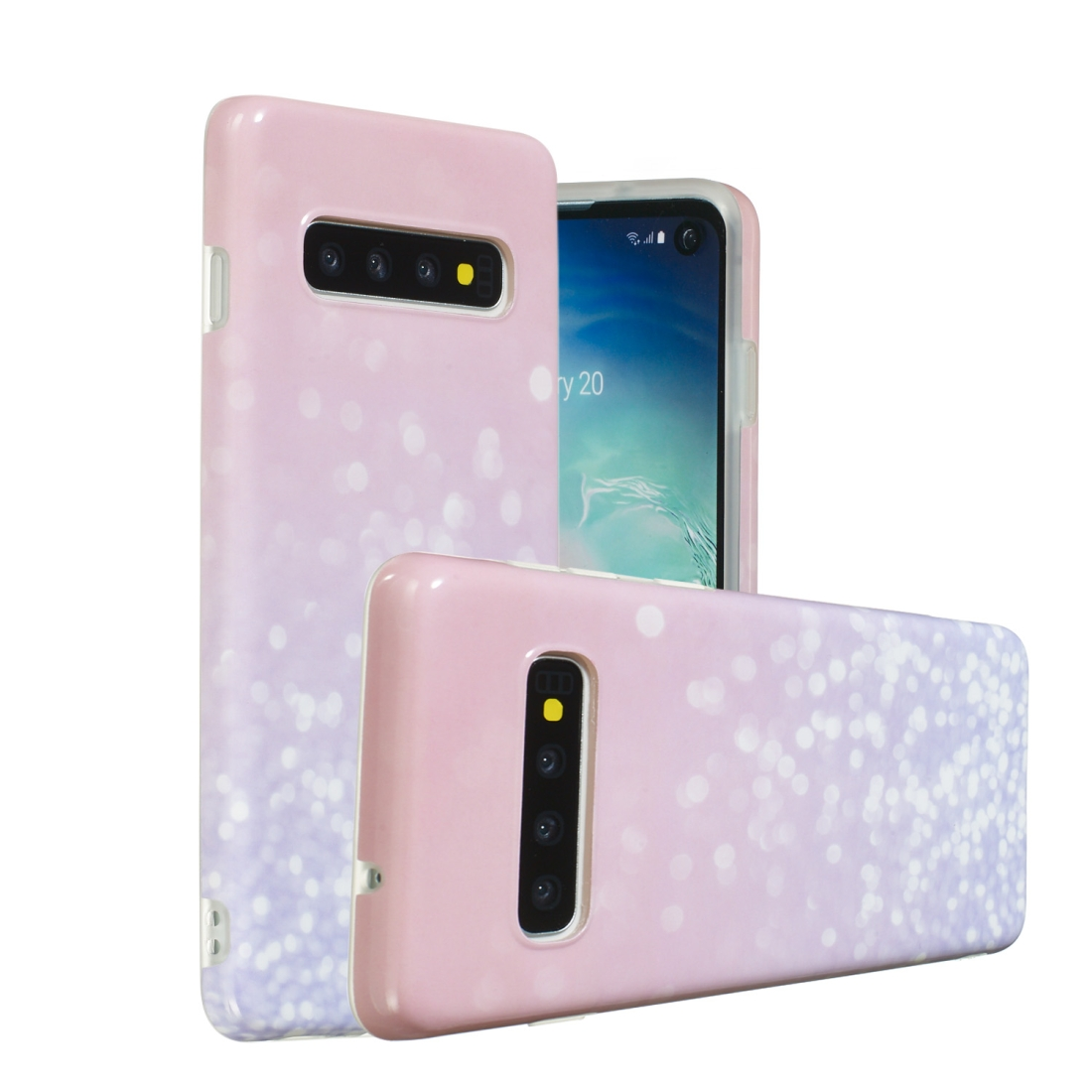 TPU Protective Case For Galaxy S10 Plus (Bright Pink)