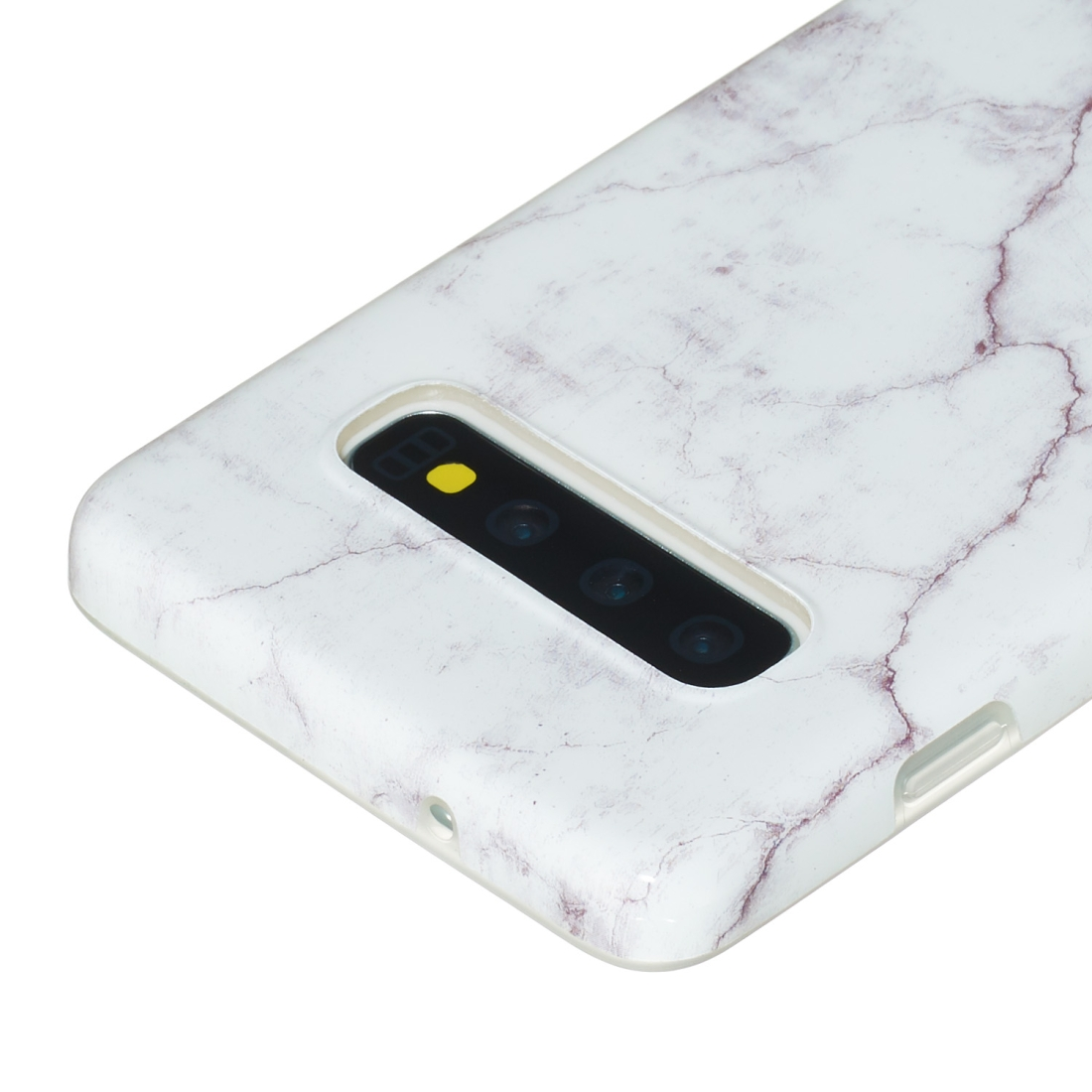 TPU Protective Case For Galaxy S10 Plus (White Marble)
