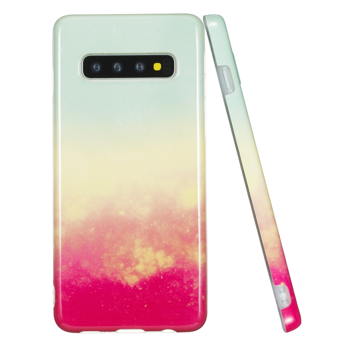 TPU Protective Case For Galaxy S10 Plus (Fire Cloud)