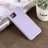 Solid Color Liquid Silicone Shockproof Full Coverage Case for Google Pixel 4XL (Purple)