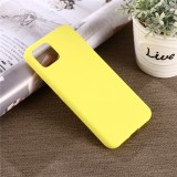 Solid Color Liquid Silicone Shockproof Full Coverage Case for Google Pixel 4XL (Yellow)