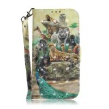 3D Colored Drawing Animals Pattern Horizontal Flip Leather Case for Huawei P Smart+ 2019 / Enjoy 9s / Honor 10i / Honor 20i / Honor 20 Lite, with Holder & Card Slots & Wallet