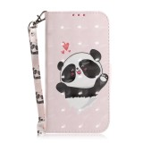 3D Colored Drawing Heart Panda Pattern Horizontal Flip Leather Case for Huawei P Smart+ 2019 / Enjoy 9s / Honor 10i / Honor 20i / Honor 20 Lite, with Holder & Card Slots & Wallet