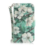 3D Colored Drawing Watercolor Flower Pattern Horizontal Flip Leather Case for Huawei P Smart+ 2019 / Enjoy 9s / Honor 10i / Honor 20i / Honor 20 Lite, with Holder & Card Slots & Wallet