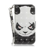 3D Colored Drawing Angry Bear Pattern Horizontal Flip Leather Case for Huawei P Smart+ 2019 / Enjoy 9s / Honor 10i / Honor 20i / Honor 20 Lite, with Holder & Card Slots & Wallet