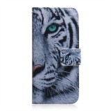 Tiger Pattern Coloured Drawing Horizontal Flip Leather Case for Huawei P30 Lite / Nova 4e, with Holder & Card Slots & Wallet