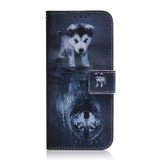 Wolf and Dog Pattern Coloured Drawing Horizontal Flip Leather Case for Huawei P30 Lite / Nova 4e, with Holder & Card Slots & Wallet
