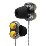 QKZ KD7 In-ear Four-motion Sports Music Headphones, Microphone Version (Black)