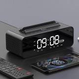 Oneder V06 Smart Sound Box Wireless Bluetooth Speaker, LED Screen Alarm Clock, Support Hands-free & FM & TF Card & AUX & USB Drive (Black)