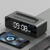 Oneder V06 Smart Sound Box Wireless Bluetooth Speaker, LED Screen Alarm Clock, Support Hands-free & FM & TF Card & AUX & USB Drive (Grey)