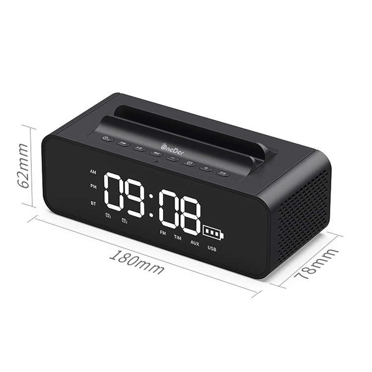 Oneder V06 Smart Sound Box Wireless Bluetooth Speaker, LED Screen Alarm Clock, Support Hands-free & FM & TF Card & AUX & USB Drive (Gold)
