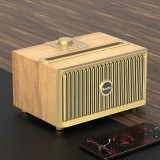 Oneder V6 Portable Wireless Bluetooth Speaker, Support Hands-free & FM & TF Card & AUX & USB Drive (Gold)