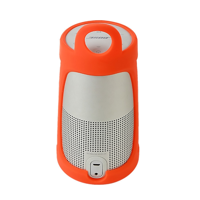 Portable Silica Gel Bluetooth Speaker Protective Case for BOSE Soundlink Revolve+ (Yellow)