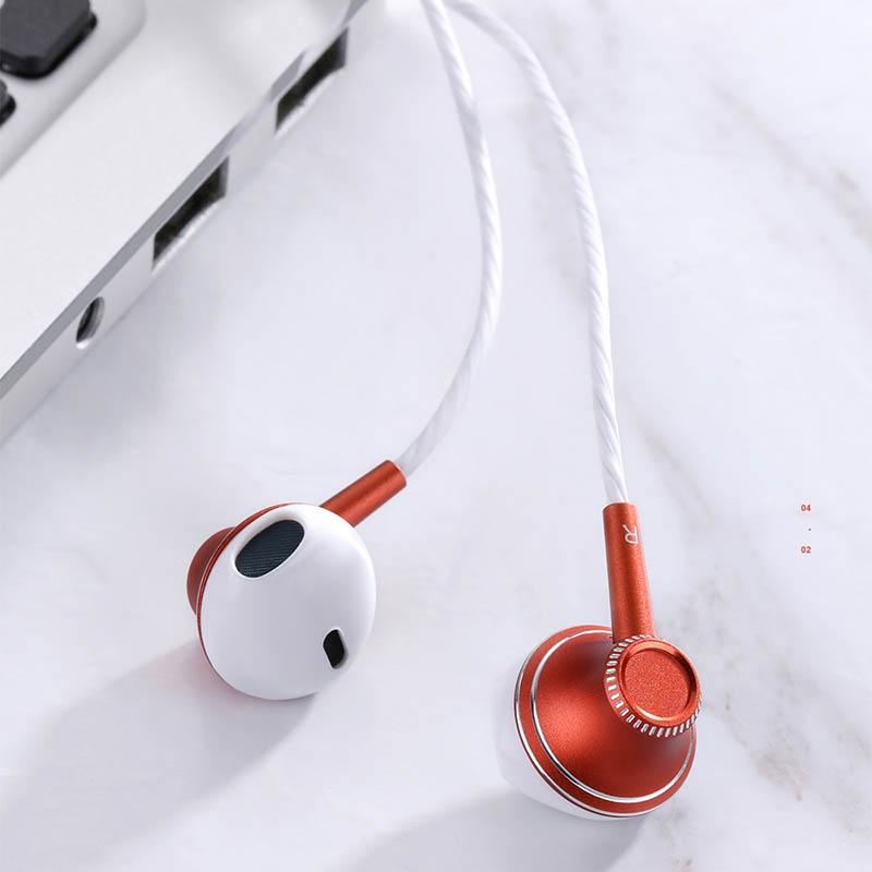 JOYROOM JR-E208 Metal Flat Wired In Ear Earphone (Red)
