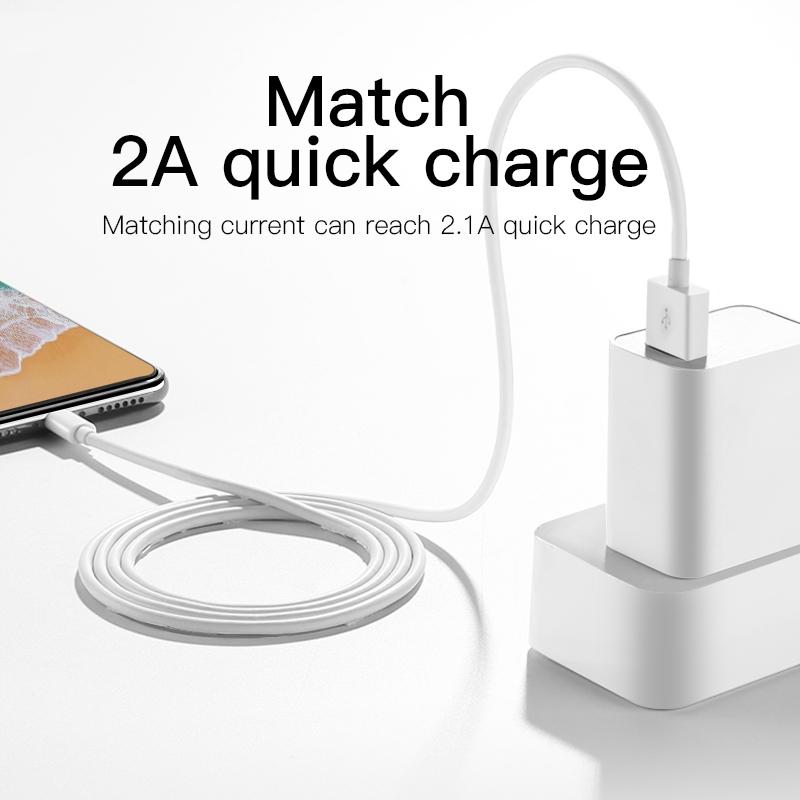 JOYROOM JR-S113 Ben Series 2A 8 Pin Quick Charging Cable, Upgrade Version,  Length: 2m (White) | Alexnld.com