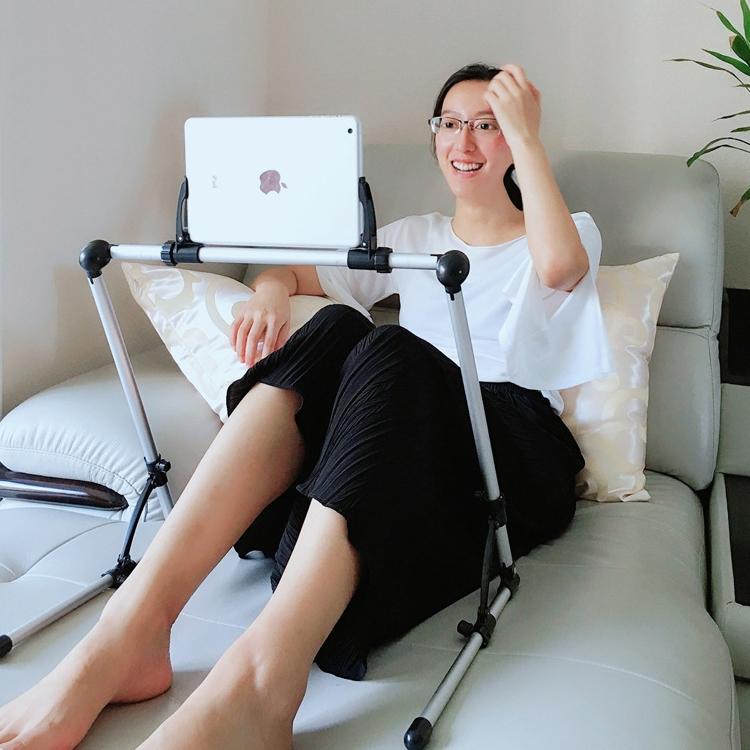 Lazy Bracket Neck Holder Flexible Long Arm Mount, Universal Adjustable Portable Bedside Lazy Bracket for Mobile Phone & Tablet (Blue)