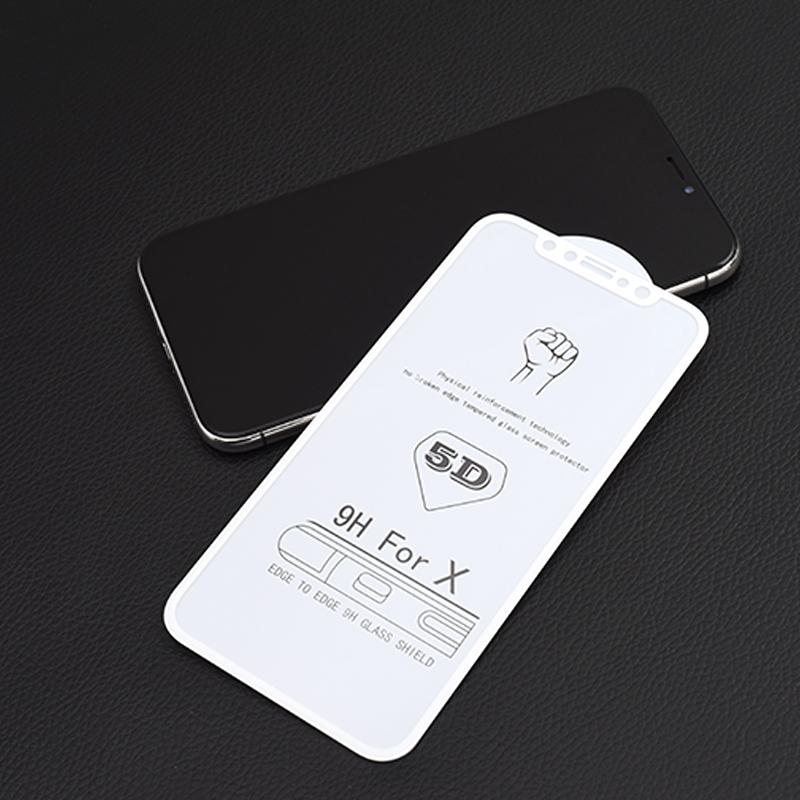 GUOHUN Screen Protector Protective 25 PCS 9H 5D Full Glue Full Screen Tempered Glass Film for Huawei Nova 4 Glass Film