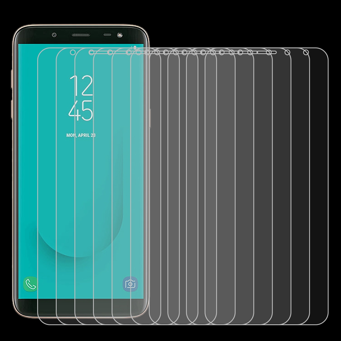 No Retail Package Tempered Glass Film Wangl Mobile Phone Tempered Glass Film 50 PCS Non-Full Matte Frosted Tempered Glass Film for Galaxy J6