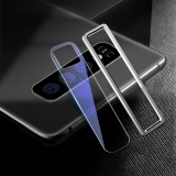 Scratchproof Mobile Phone Metal Rear Camera Lens Ring + Rear Camera Lens Tempered Protective Film Set for Samsung Galaxy S10 (Silver)