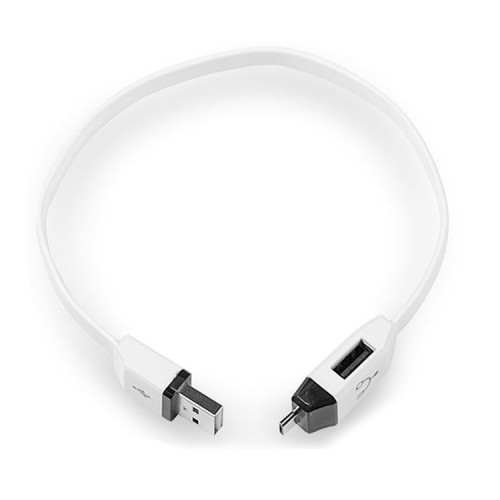 OTG-Y-01 USB 2.0 Male to Micro USB Male + USB Female OTG Charging Data Cable for Android Phones / Tablets with OTG Function, Length: 30cm (White)