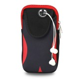 Multi-functional Sports Armband Waterproof Phone Bag for 5.5 Inch Screen Phone, Size: L (Black Red)