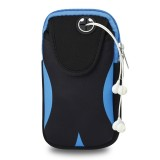 Multi-functional Sports Armband Waterproof Phone Bag for 5 Inch Screen Phone, Size: M (Black Blue)