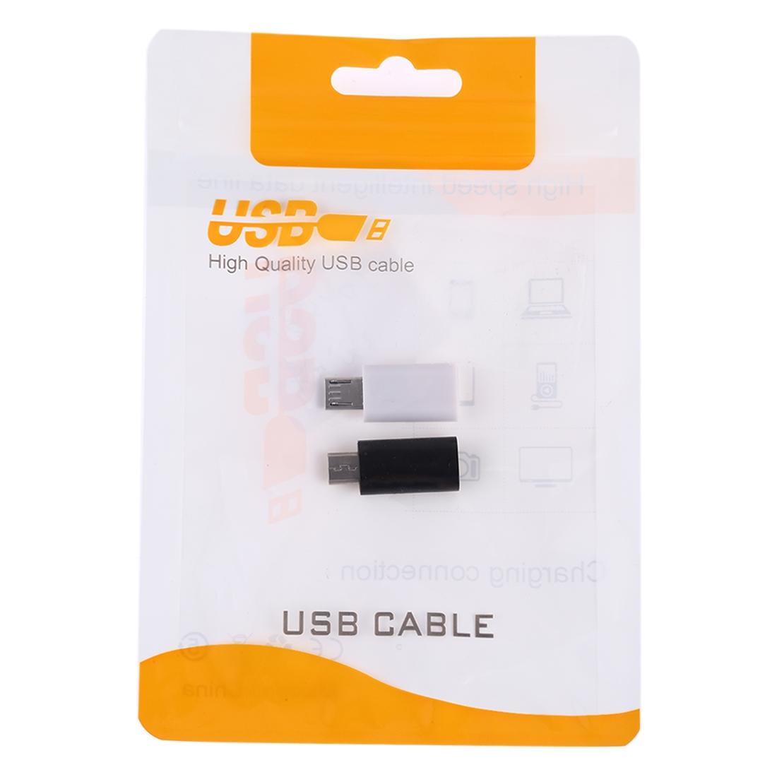 USB-C / Type-C Female to Micro USB Male Converter Adapter (White)