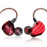 QKZ KD4 In-ear Four-unit Headphones Sports Music Headphones, Microphone Version (Red)