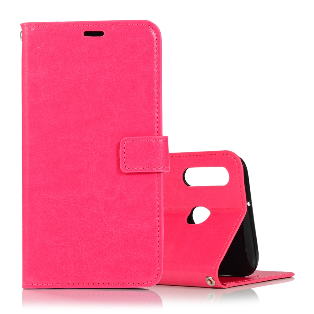 Crazy Horse Texture Horizontal Flip Leather Case with Holder & Card Slots & Wallet & Photo Frame for Huawei Honor 10 lite (Magenta)