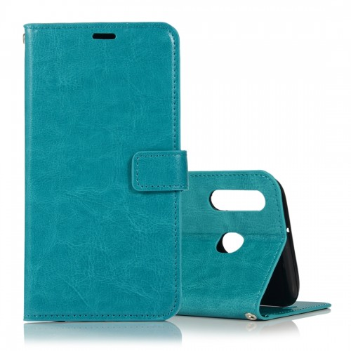 Crazy Horse Texture Horizontal Flip Leather Case with Holder & Card Slots & Wallet & Photo Frame for Huawei Honor 10 lite (Blue)