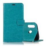 Crazy Horse Texture Horizontal Flip Leather Case with Holder & Card Slots & Wallet & Photo Frame for Huawei Honor P20 lite (Blue)