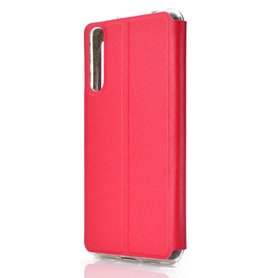 Golden Beach Intelligent Answering Brings Electric Display Window with Bracket Left and Right Flip Cover Leather Case For Huawei P30 (Red)