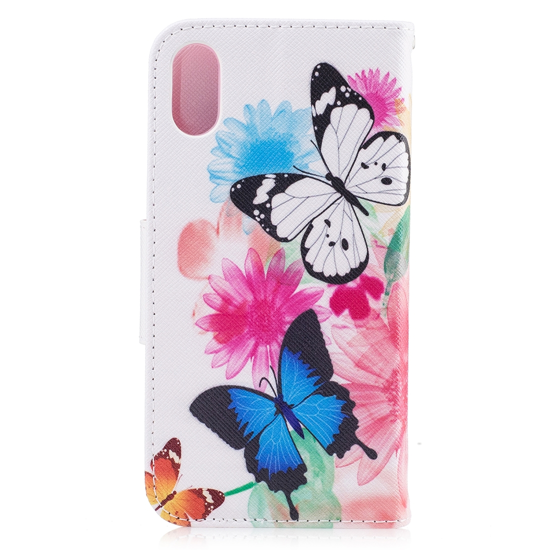 Colored Drawing Pattern Horizontal Flip Leather Case for Samsung Galaxy S10e,with Holder & Card Slots & Wallet (Two Butterflies)