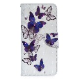 3D Colored Drawing Pattern Horizontal Flip Leather Case for Galaxy A70, with Holder & Card Slots & Wallet (Butterflies)