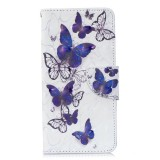 3D Colored Drawing Pattern Horizontal Flip Leather Case for Samsung Galaxy S10, with Holder & Card Slots & Wallet (Butterflies)