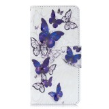 3D Colored Drawing Pattern Horizontal Flip Leather Case for Galaxy S10 Plus, with Holder & Card Slots & Wallet (Butterflies)