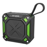 W-King S6 Portable Bluetooth Speaker Waterproof Wireless Music Speaker Radio Box Anti-drop Outdoor Bicycle TF card Loudspeakers (Black + green)