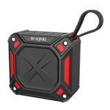 W-King S6 Portable Bluetooth Speaker Waterproof Wireless Music Speaker Radio Box Anti-drop Outdoor Bicycle TF card Loudspeakers (Black + red)