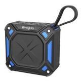 W-King S6 Portable Bluetooth Speaker Waterproof Wireless Music Speaker Radio Box Anti-drop Outdoor Bicycle TF card Loudspeakers (Black + blue)