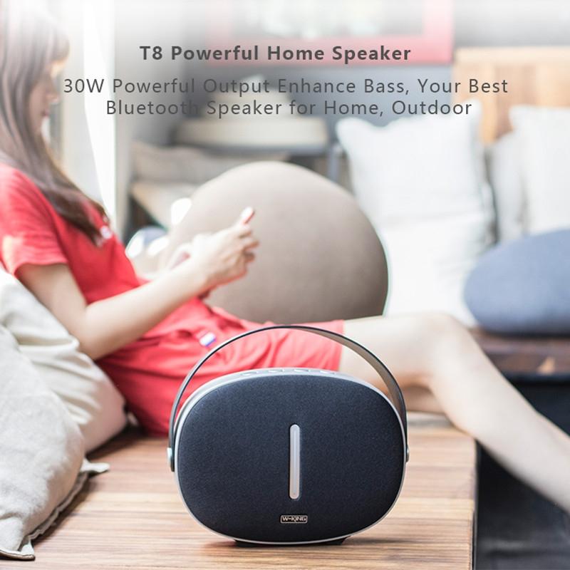 W-KING T8 HIFI Speaker 30W High Power Portable Bluetooth Speaker Wireless with FM Radio for Mobile Bluetooth Speaker (white)