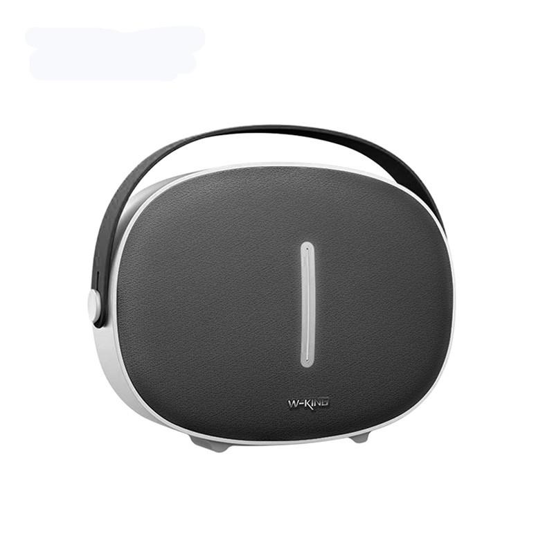 W-KING T8 HIFI Speaker 30W High Power Portable Bluetooth Speaker Wireless with FM Radio for Mobile Bluetooth Speaker (Silver grey)